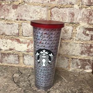 Starbucks Holiday Falala Tumbler Cold Coffee